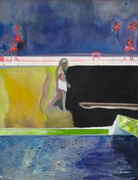 Walking Figure By Pool [2011] Peter Doig