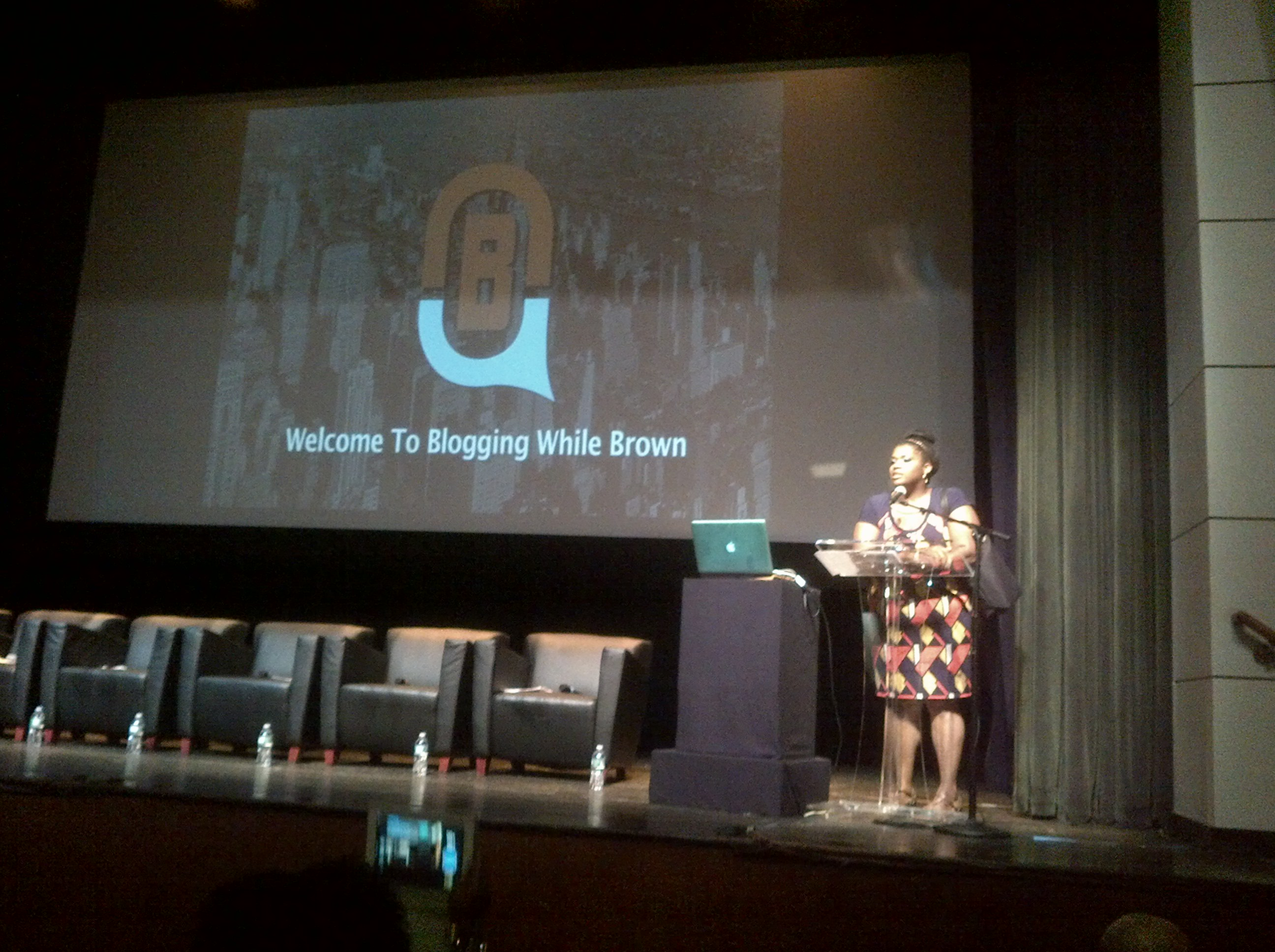 Gina McCauley, Blogging While Brown founder gives opening remarks at BWB '14