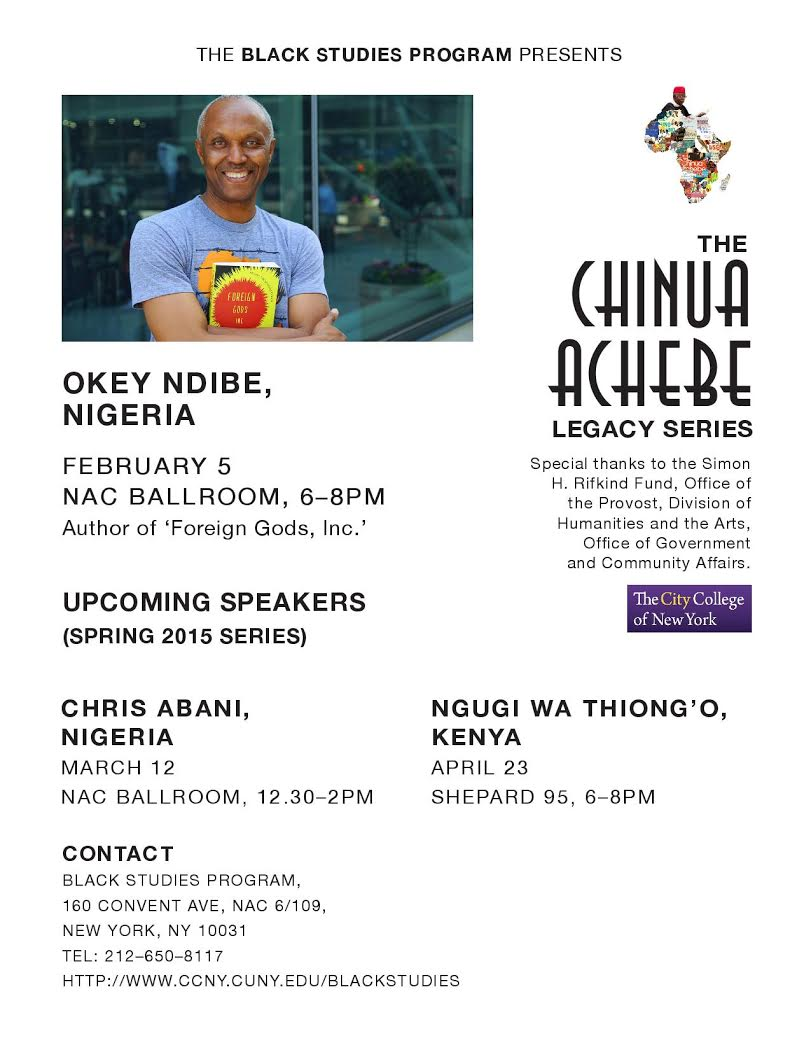Chinua Achebe Lecture Series Spring 2015