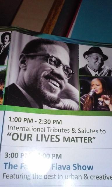 Our Lives Matter on the Brochure for Harlem Week 2015
