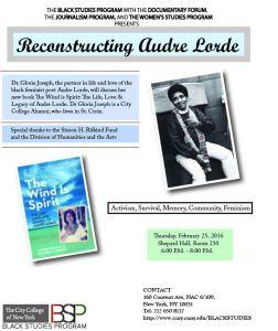 Dr. Gloria Joseph discusses the Legacy of Audre Lorde