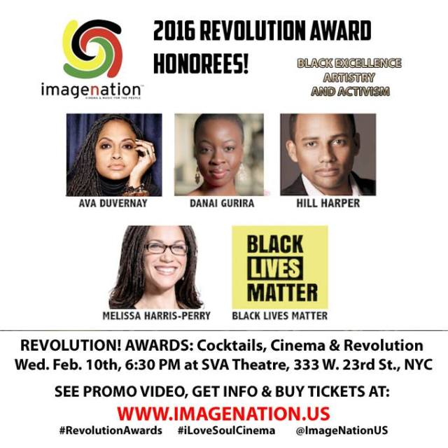 Revolution Awards on Feb. 10th to honor Hill Harper, Ava Duvernay among others