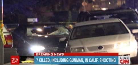 shooting rampage in Santa Barbara, CNN screen