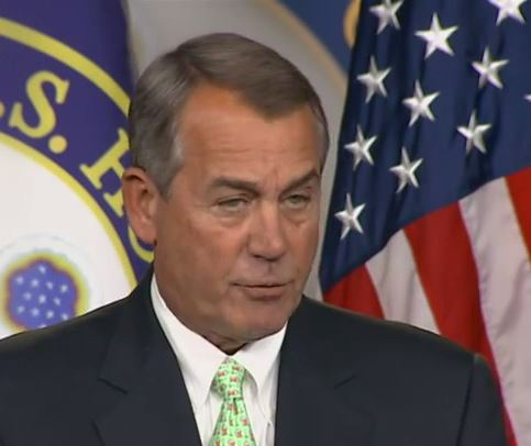 john boehner won't rule out DHS shutdown