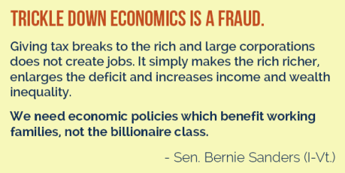 Bernie Trickle Down