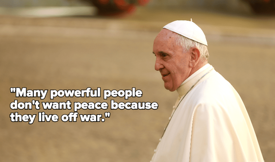 Pope On War
