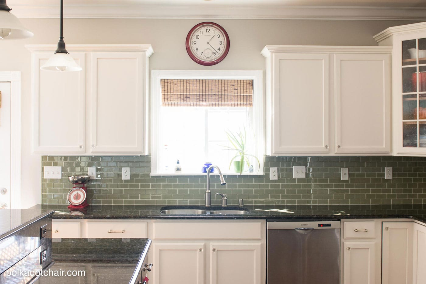 painted kitchen cabinet ideas kitchen makeover reveal spray painting kitchen cabinets Before and After Photos of a Kitchen that had it s Cabinets Painted White lots of