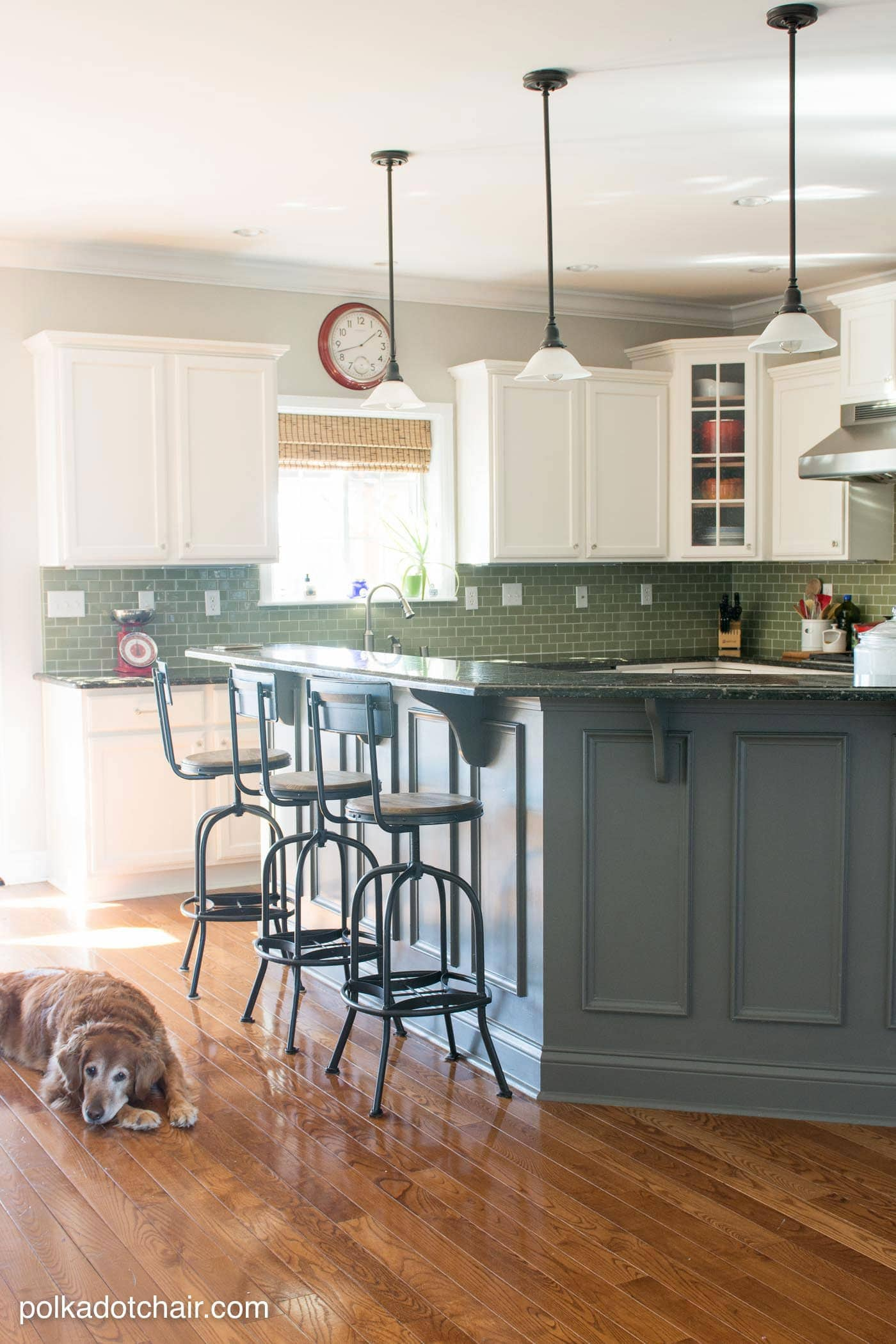 painted kitchen cabinet ideas kitchen makeover reveal kitchen cabinet ideas Before and After Photos of a Kitchen that had it s Cabinets Painted White lots of