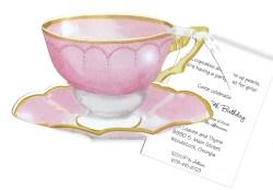 Sophisticated Pink Tea Cup Invitation Pink Tea Cup Invitation Tea Party Teenager Tea Party Invitations Template Tea Party Invitations Pinterest