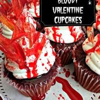 Bloody Valentine Cupcakes