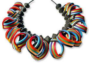 Ortiz de la Torre's ribbon necklace