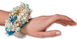 Rachel Rader's blue lagoon mixed media bracelet