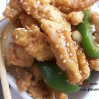 szechuan crispy shredded chicken