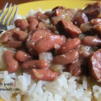 slow cooked red beans and rice