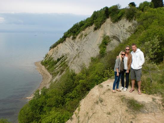Me, Crystal and Blake on the Slovenian Coast