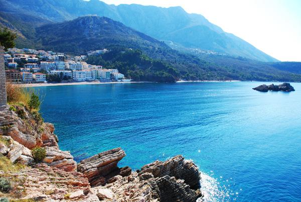 View from Sveti Stefan, Montenegro