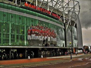 Outside Old Trafford Stadium, Manchester