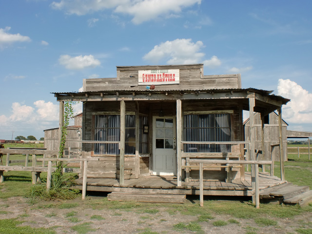 General Store at J Lorraine Ghost Town in Austin, Texas