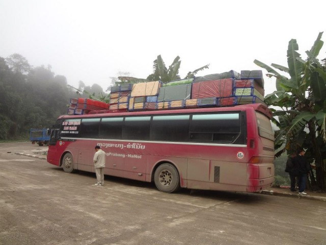 Overland bus from Vietnam to Laos