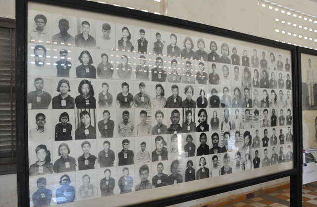 Photgraphs of inmates at S-21 Prison in Phnom Penh
