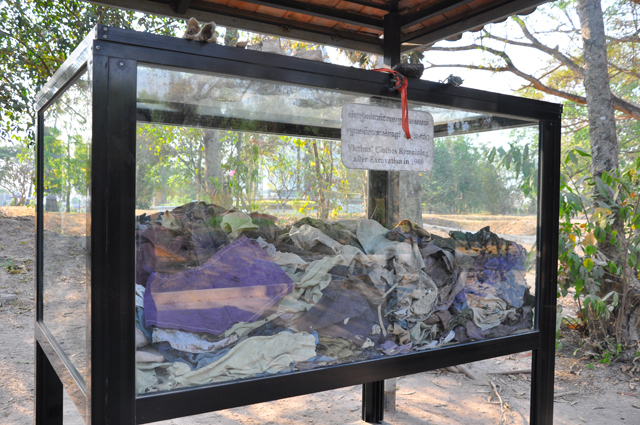 Clothing of Victims Killed at the Killing Fields in Phnom Penh Cambodia