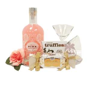 Pretty in Pink Liqueur Gift Basket, Pink Limoncello Basket, LiDestri Limoncello gift basket, LiDestri NJ Gift basket, Pink Limoncello Gifts NJ, Pink Limoncello Gifts NY, Pink Limoncello Gifts CA