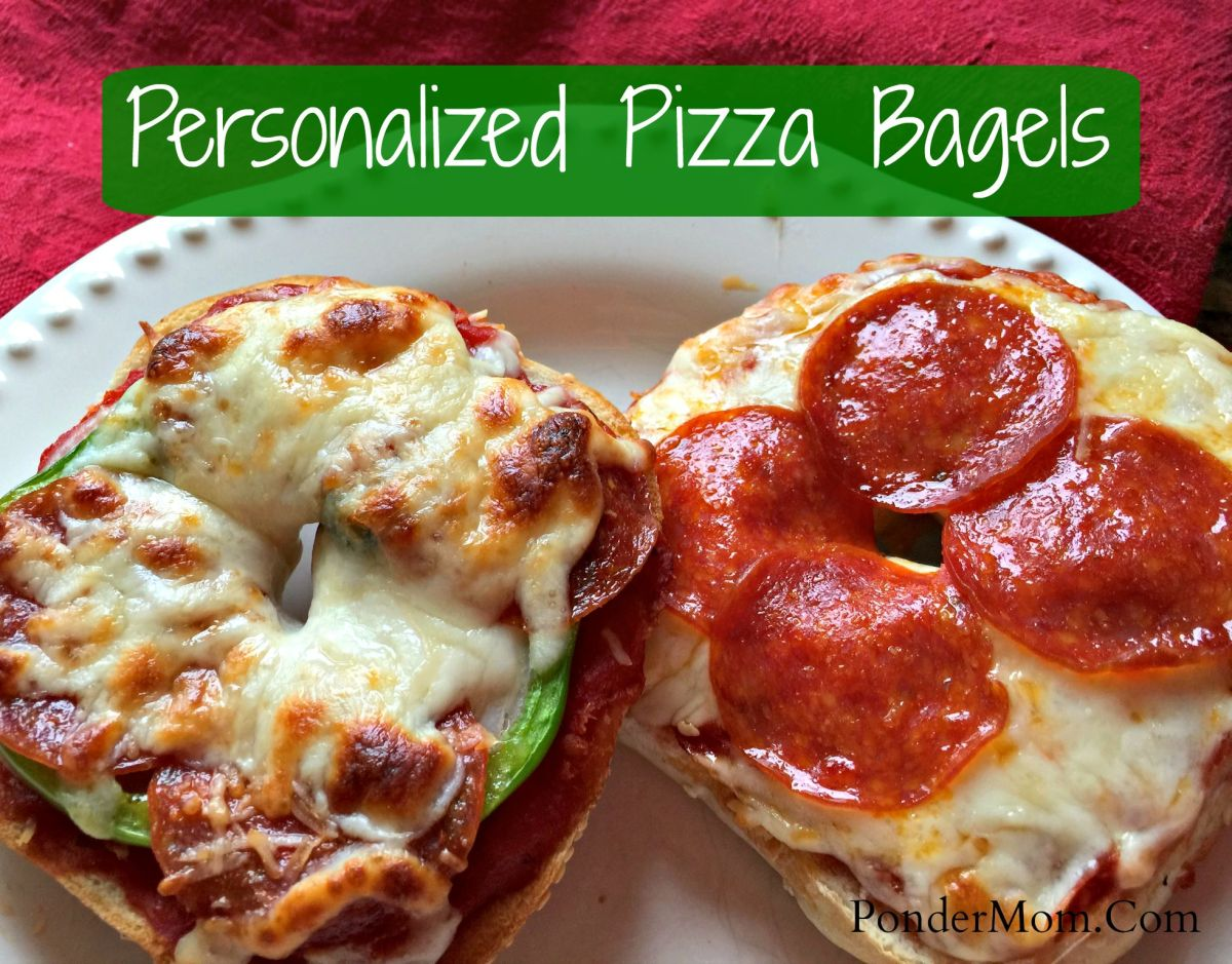 Pizza bagels for Entrees simples