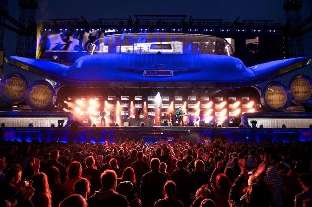 Escenario Cadillac - Bon Jovi 2013. Imagen: rafabasa.com