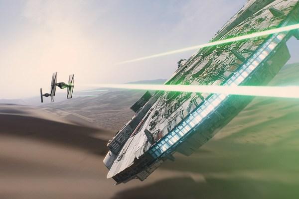 Star Wars The Force Awakens Tie Fighter Millennium Falcon Big