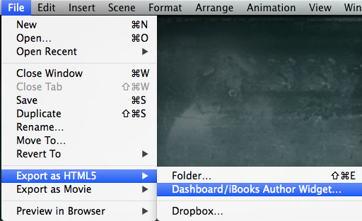 Hype export as ibooks author widget