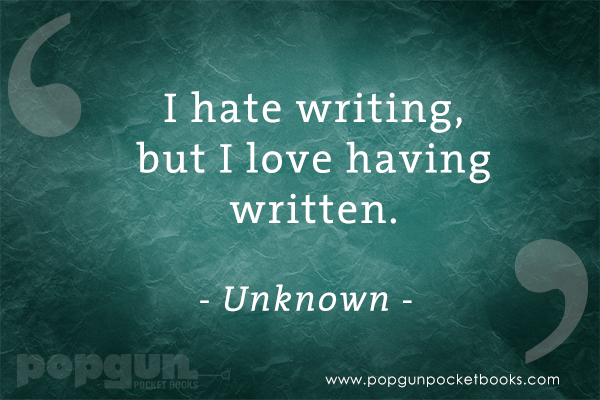 I hate writing quote