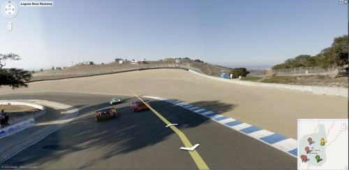 Google Streetview of Laguna Seca Racetrack