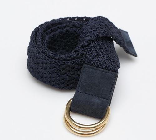 A.P.C. Navy Woven Belt