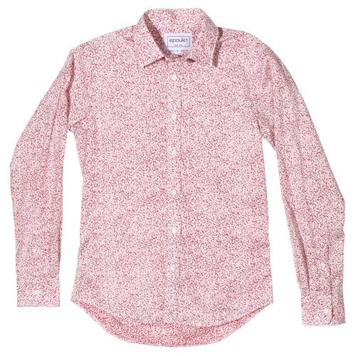 Epaulet Red Floral Shirt
