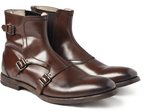 Alexander McQueen Buckled Leather Boots for Fall 2011