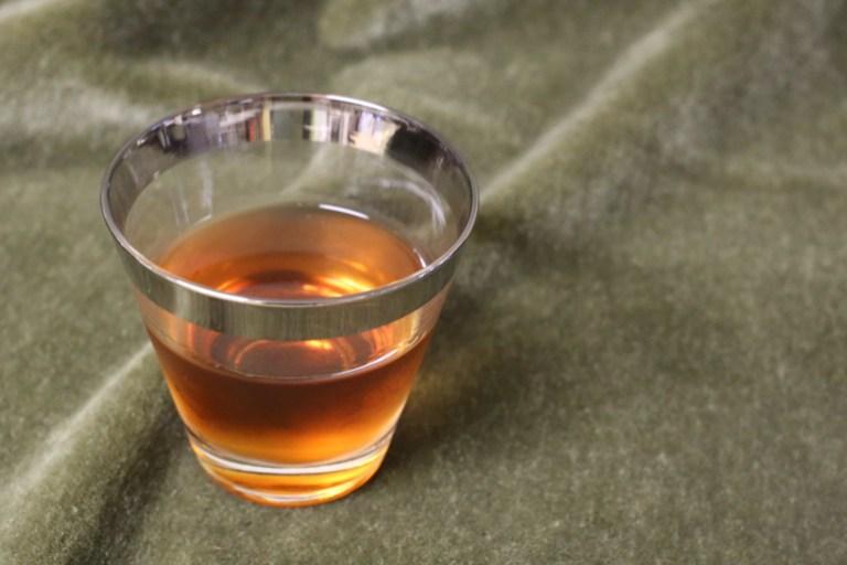 Rum Berbere Manhattan   Pork Cracklins