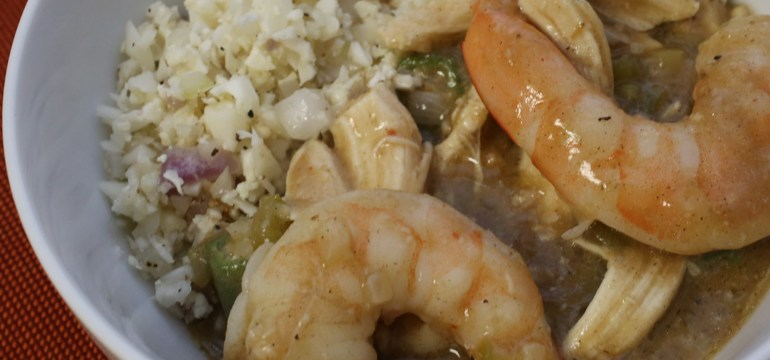 Shrimp & Chicken Gumbo | Pork Cracklins