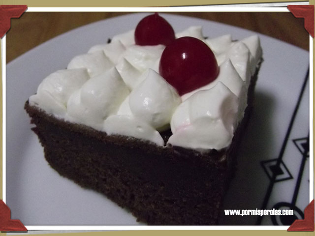 Cake de chocolate y Coca-Cola Cherry