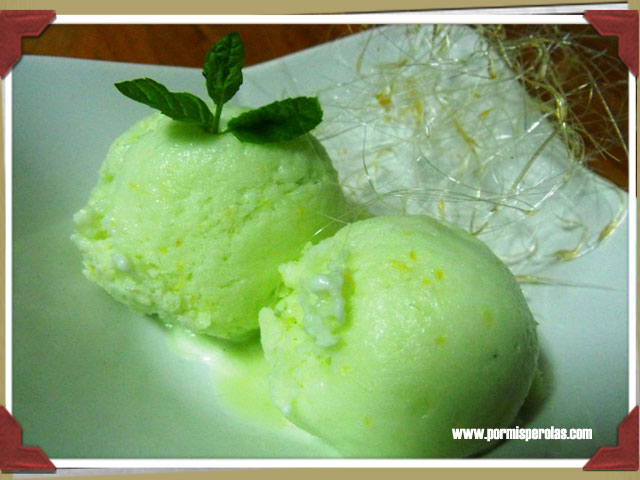 Helado de limón (sin heladera)