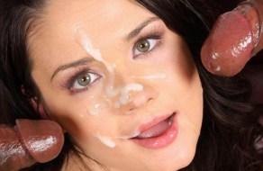 fotos Compilado de mujeres con corridas en su boca y en su cara