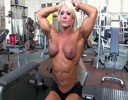 world biggest female bicep