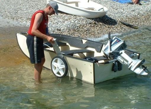 Porta-Dolly III Transportwagen zum leichten Landtransport des aufgebauten Bootes.Porta-Bote Faltboote Zubehör