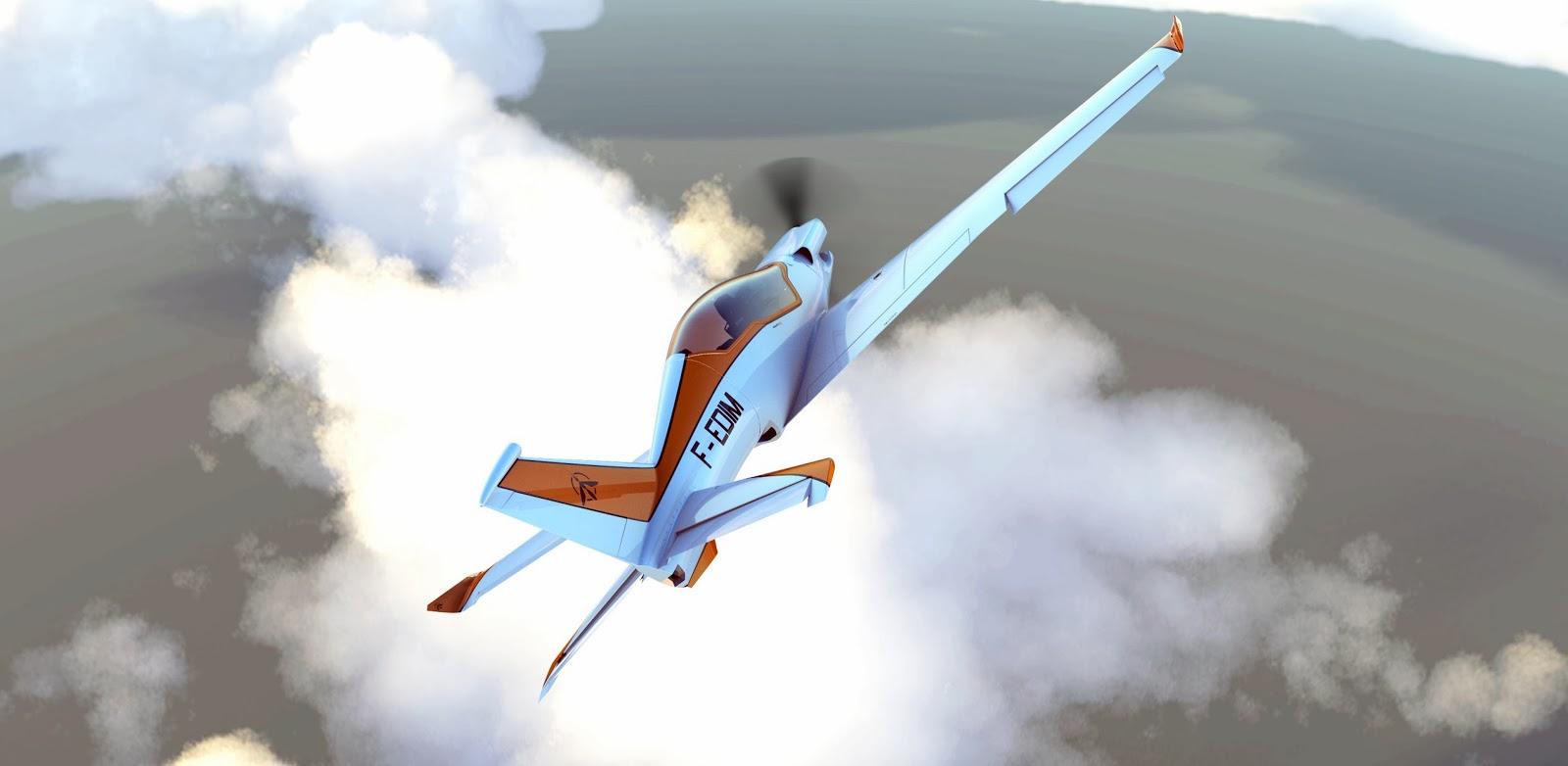 Projet Mosquito 200: un concept plane impressionnant créé par 5 étudiants