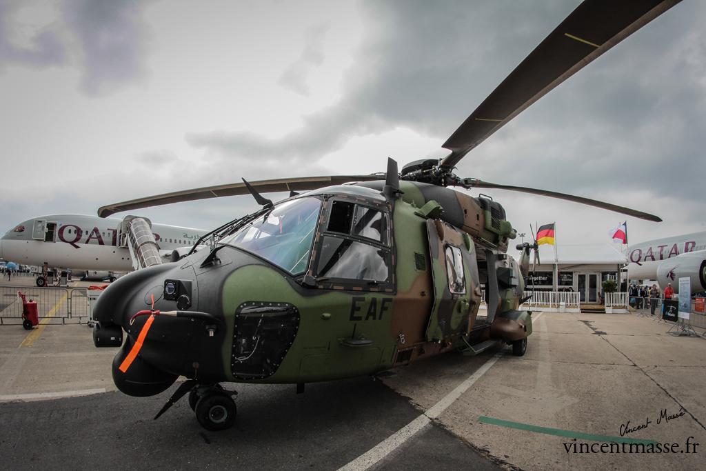 Le quinzième NH90 TTH de l'ALAT remis officiellement aujourd'hui par le Président de NH Industries.