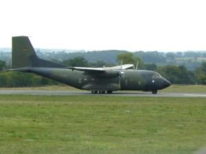 Un C-160 de la Bundesluftwaffe transportait le personnel technique de la PAF.