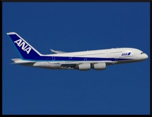 Vue d'artiste d'un A380 ANA