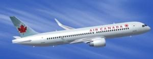 Vue d'artiste d'un CS300 au couleur d'Air Canada