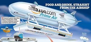 """Vue d'artiste """"Prime Air Airship"""", Crédits: Amazon"""