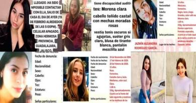Desaparecen seis jóvenes en Jalisco; una de ellas es rusa