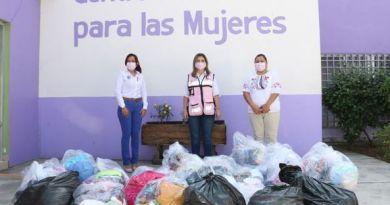 Entregan ropa a Centro de Justicia para las mujeres